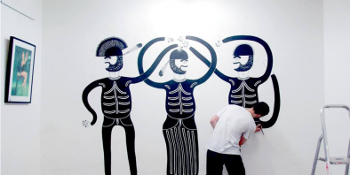 UPCOMING SHOW 'BRO-DOWN' MURALS BY JACK PEARCE